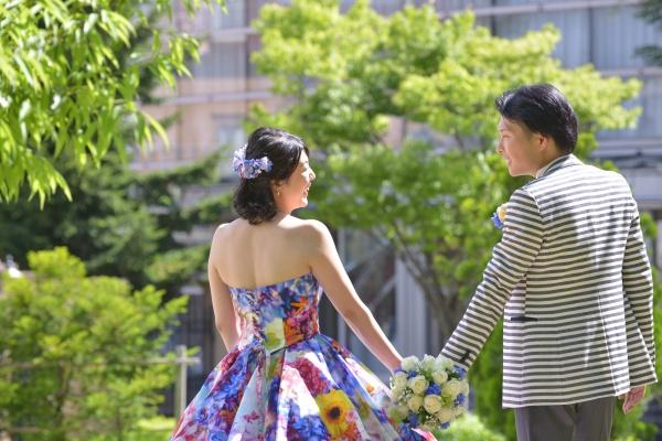お花を飾った【ブライダルヘア】花を付けられるのは花嫁の特権♡♡