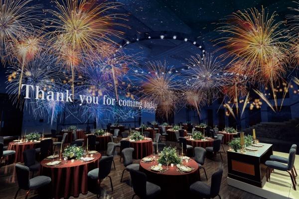 【人気パーティー会場がリニューアル!】県内最大級の大型スクリーンと3Dプロジェクションマッピングで感動の映像演出を体験してみて★