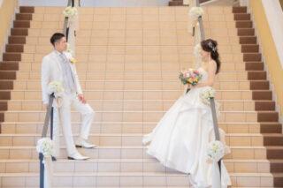 【プレ花嫁さまの憧れ☆大階段入場】そもそも階段の魅力ってなんだろう?メリットや演出を大公開します♪