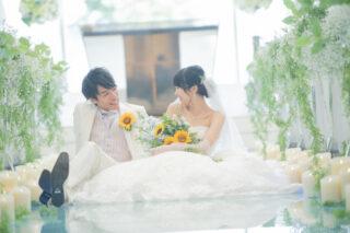 【☆水×光×緑のチャペルで☆】ウェディングドレス姿をナチュラルに撮影する方法♪