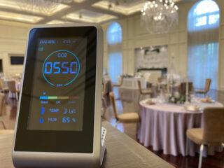 """【感染症対策☆新着情報】""""安心安全""""な結婚式のために『二酸化炭素濃度測定器』を設置をしました!"""