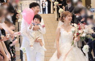 """【ウェディングレポート】お子様も一緒に叶える""""憧れのwedding""""*~chapel ceremony~"""